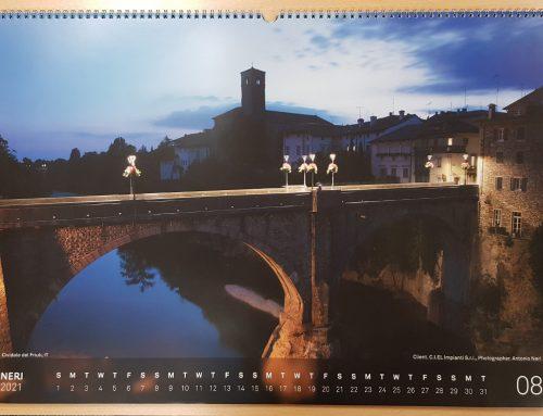 Il Ponte del Diavolo immortalato di notte star di un calendario